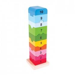 Turnulet din lemn cu numere - BigJigs