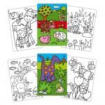 Prima carte de colorat cu abtibilduri