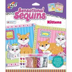 Sensational Sequins - Set 2 tablouri cu pisicute