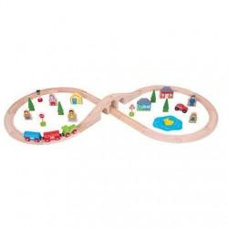 Set tren cu cale ferata circulara - BigJigs