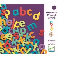 83 Litere magnetice colorate pentru copii - Djeco