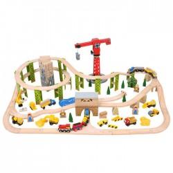 Circuit auto si feroviar din lemn - Santierul