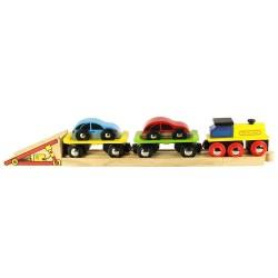 Trenulet cu platforma auto - BigJigs