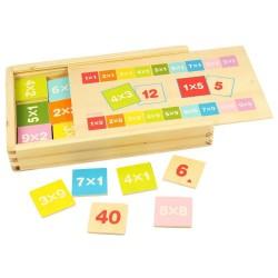 Joc matematic din lemn - Inmultirile