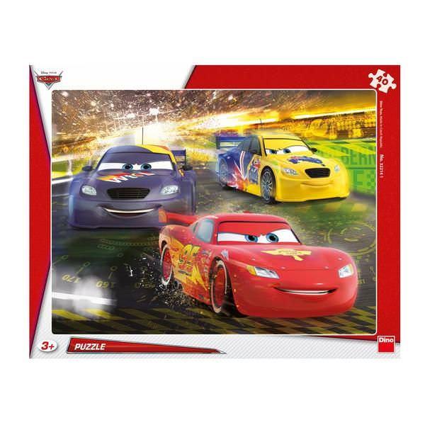 Puzzle cu rama - Cars - Marea Victorie