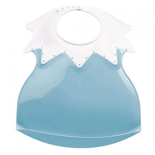 Baveta bebe ultra-soft Arlequin Thermobaby Myosotis Blue