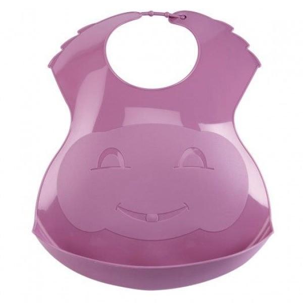 Baveta din plastic Soft Orchid Pink