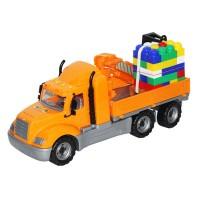 Camion cu macara Mike cu palet de cuburi 55cm - Wader
