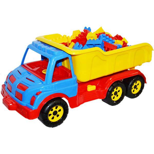 Camion plastic cu 80 de cuburi