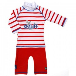 Costum de baie SeaLife red marime 98-104 protectie UV Swimpy