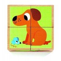 Cuburi din lemn Animale Djeco