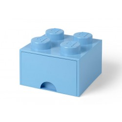 Cutie depozitare LEGO 2x2 cu sertar - Albastru deschis (40051736)