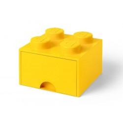 Cutie depozitare LEGO 2x2 cu sertar - Galben (40051732)