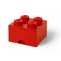 Cutie depozitare LEGO 2x2 cu sertar - Rosu (40051730)