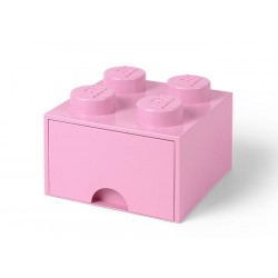 Cutie depozitare LEGO 2x2 cu sertar - Roz (40051738)