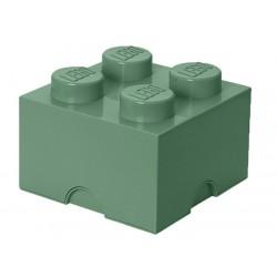Cutie depozitare LEGO 2X2 verde nisip 40031747