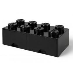 Cutie depozitare LEGO 2x4 cu sertare - Negru (40061733)