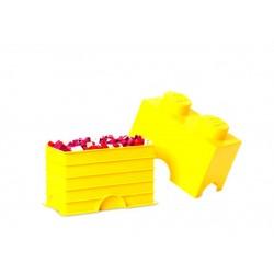 Cutie depozitare LEGO 1x2 - Galben