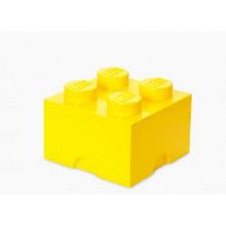 Cutie depozitare LEGO 2x2 - Galben