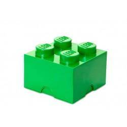 Cutie depozitare LEGO 2x2 - Verde inchis