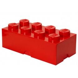 Cutie depozitare LEGO 2x4 - Rosu inchis