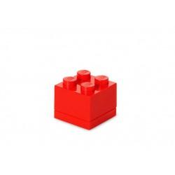 Mini cutie depozitare LEGO 2x2 - Rosu
