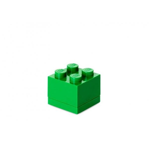 Mini cutie depozitare LEGO 2x2 - Verde inchis