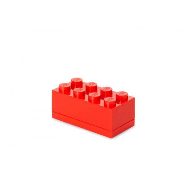 Mini cutie depozitare LEGO 2x4 - Rosu