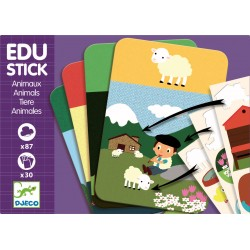 Stickere educative cu Animale Edu-Stick Djeco