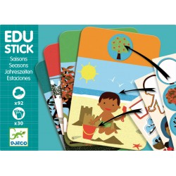 Stickere educative cu Anotimpuri Edu-Stick Djeco