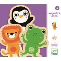 Joc cu magneti Djeco - Animale prietenoase