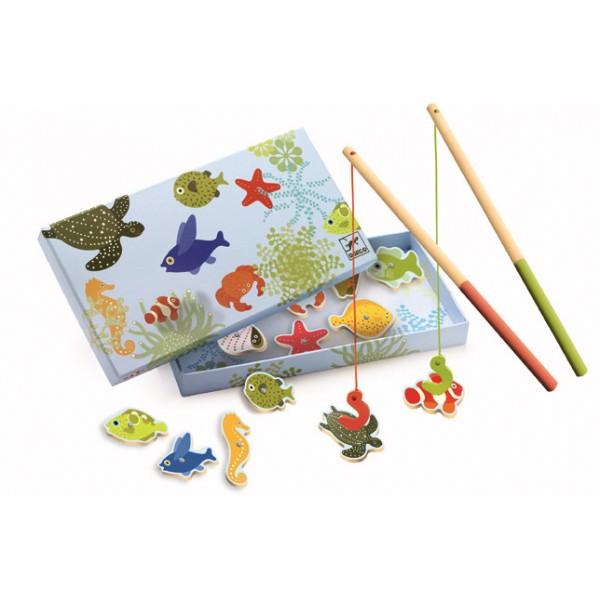 Joc de pescuit magnetic pesti tropicali Djeco