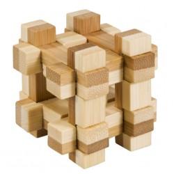 Joc logic IQ din lemn bambus in cutie metalică - 11
