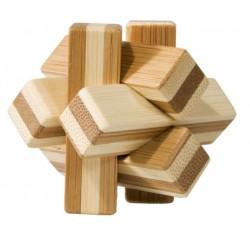 Joc logic IQ din lemn bambus Knot in cutie metal