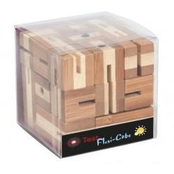 Joc logic puzzle 3D din bambus Flexi-Cub 4