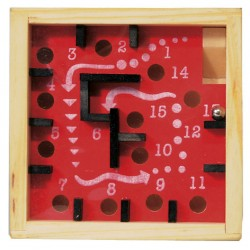 Labirint numerotat cu bila - Rosu