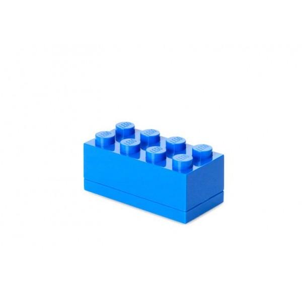 Mini cutie depozitare LEGO 2x4 - Albastru inchis