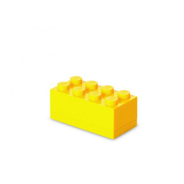 Mini cutie depozitare LEGO 2x4 - Galben