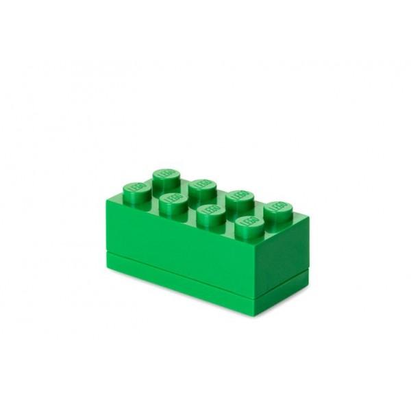 Mini cutie depozitare LEGO 2x4 - Verde inchis