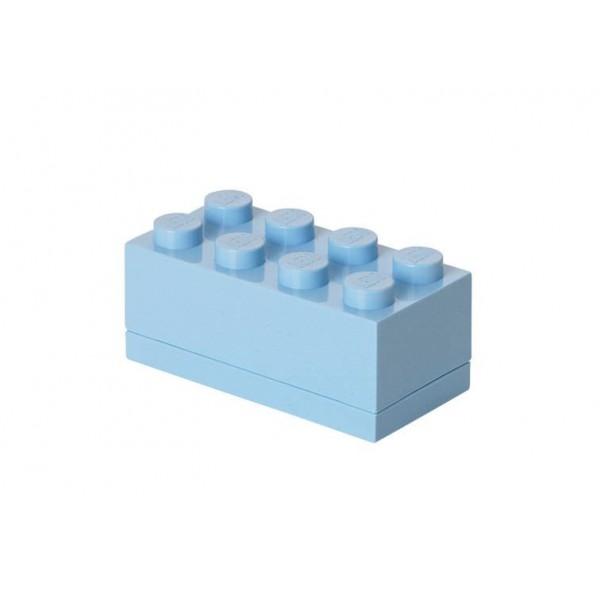 Mini cutie depozitare LEGO 2x4 - Albastru deschis