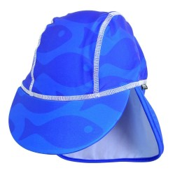 Sapca Fish blue 2-4 ani protectie UV Swimpy