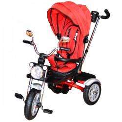 Tricicleta cu maner, scaun rabatabil si roti cauciuc