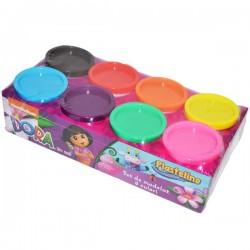 Pasta de modelat 8 culori Dora the Explorer