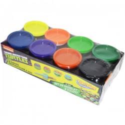 Pasta de modelat 8 culori Ninja Turtles