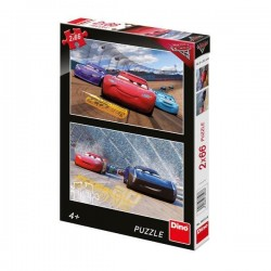 Puzzle 2 in 1 - Cars 3 Cursa cea mare 66 piese
