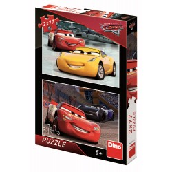 Puzzle 2 in 1 - Cars 3: Cursa cea mare (77 piese)