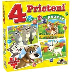 Puzzle 4 Prieteni Mari 12, 24, 42, 56