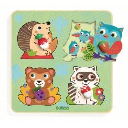 Puzzle Animale din padure
