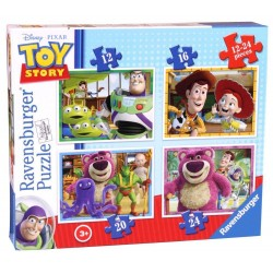 PUZZLE DISNEY TOY STORY, 4 BUC IN CUTIE, 12/16/20/24 PIESE
