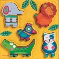 Puzzle Djeco lemn si fetru Jungla